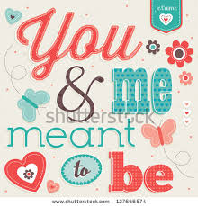 vector love card vintage typography good stock vector 127666574