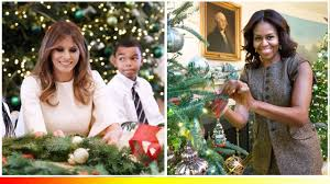 White House Christmas Decorating Melania Trump And Michelle Obama Ideas Christmas Decorating For