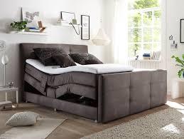 Schlafzimmer Set Mit Boxspringbett Infant Boxspringbett Elektrisch Verstellbar 180x200 Cm Kunstleder Grau