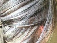 camouflaging gray hair with highlights 103 best gray hair images on pinterest hairstyles makeup and