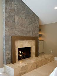 Travertine Fireplace Hearth - living room with travertine tile floors u0026 stone fireplace zillow