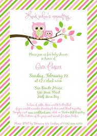 baby shower for a girl owl baby girl shower invitations owl baby girl shower invitations