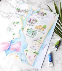 Map Wedding Invitations Wedding Maps Bohemian Mint