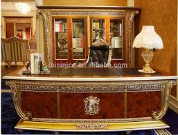 Solid Wood Executive Office Furniture by French Rococo Office Furniture Solid Wood Gold Leaf Office Desk