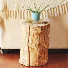 how to make a tree stump table diy natural tree stump side table justinecelina