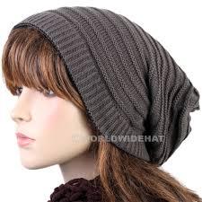 knit beanie hat crochet winter cap baggy slouch be925g hats
