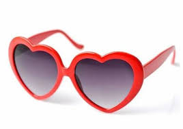 heart shaped sunglasses trouble apparel