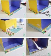 Decorate Cardboard Box Map Covered Shelf Organizing Using Shoeboxes Decoupage