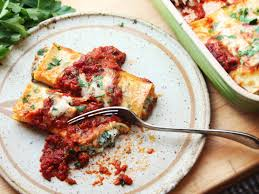 for the best spinach manicotti skip the manicotti and maybe the