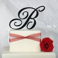b cake topper monogram wedding cake toppers cheap wedding corners