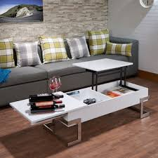 White Wood Coffee Table Simple Living White Metal High Gloss Coffee Table N A Free