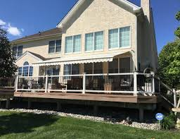 Large Awning Large Retractable Awning Over Deck S U0026s Remodeling Contractors