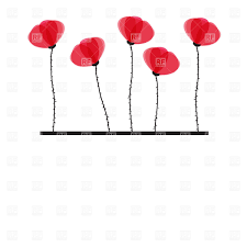 red poppy and black stems vector image 23145 u2013 rfclipart