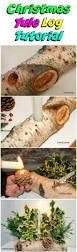 easy christmas crafts for kids make a natural yule log diy