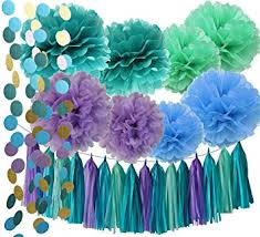 the sea decorations the sea party supplies mermaid decorations teal
