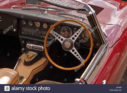 jaguar cars interior the interior of an e type jaguar 4 2 litre classic car stock photo
