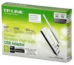 DRIVER TP-Link TL-WN722N. Adaptador USB Wireless N 150Mbps velocidades 4x-9x Alta Ganancia