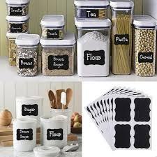 Kitchen Storage Labels - 36pc black board kitchen storage labels u2013 finni deals