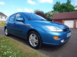blue ford focus mk1 zetec 2001 hatchback 1 6 petrol manual 115300
