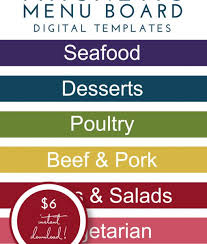 magnetic menu board templates modern the homes i have made