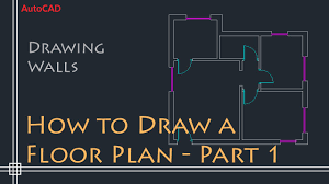 how to draw a floor plan for a house autocad 2d basics tutorial to draw a simple floor plan fast and