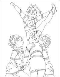 cheerleading coloring pages