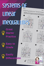 System Of Linear Inequalities Worksheet 55 Best Inequalities Images On Pinterest Classroom Ideas Math
