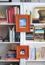 a quick and easy fix for unaligned bookshelves and furniture