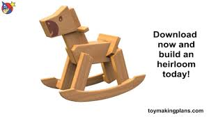 wood toy plan classic rocking horse youtube