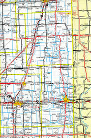 Illinois Interstate Map by Interstate Guide Interstate 57
