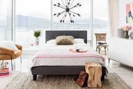 eliza queen bed dark grey fabric products moe u0027s wholesale