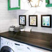 diy with style diy wood plank laundry room countertop blue i style