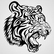 tribal panther tattoougg stovle tiger panther