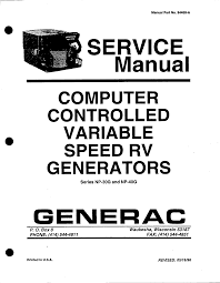 generac power systems portable generator np 40g user guide
