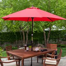 Patio Furniture Set With Umbrella - coral coast key largo 9 ft spun poly wood market umbrella hayneedle