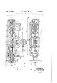 patent us2459976 milling machine transmission and control