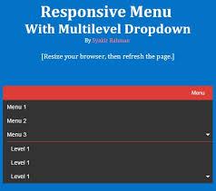 cara membuat menu dropdown keren cara membuat responsive menu dengan multilevel dropdown devaradise