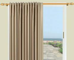 Patio Door Thermal Blackout Curtain Panel Door Blackout Curtains Chenille Grey Thermal Pencil Pleat Door