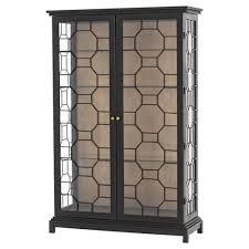 tempered glass shelves for kitchen cabinets olive modern black honeycomb metal tempered glass shelves china cabinet