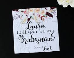 bridesmaids asking ideas asking bridesmaid etsy