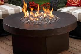 Large Firepit Large Brown Metal Gas Powered Movable Pit With A Square