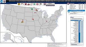 Bowling Green Ohio Map by Ncaa Division I Hockey The National Collegiate Hockey Conference