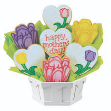 Delivered Gifts Mothers Day Cookie Bouquet Fresh Baked Hand Decorated Hand