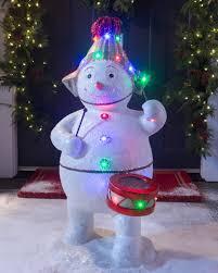 outdoor fiber optic snowman band balsam hill