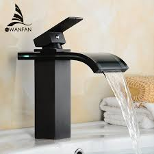 Bathroom Waterfall Faucet by Popular Black Waterfall Faucet Buy Cheap Black Waterfall Faucet