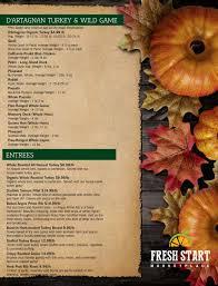 fotos thanksgivings thanksgiving menu in brooklyn by fresh start marketplace
