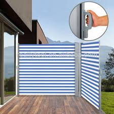 Blind Side House Garden Patio Sunshade Retractable Blind Side Awning Screen Size