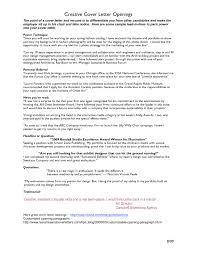 cover letter opening project scope template