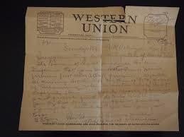 Western Union Telegrams December 1942 The Bridge Bureau Western Union