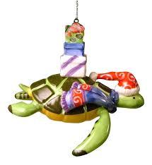 amazon com sea turtle christmas ornament wearing a santa hat and